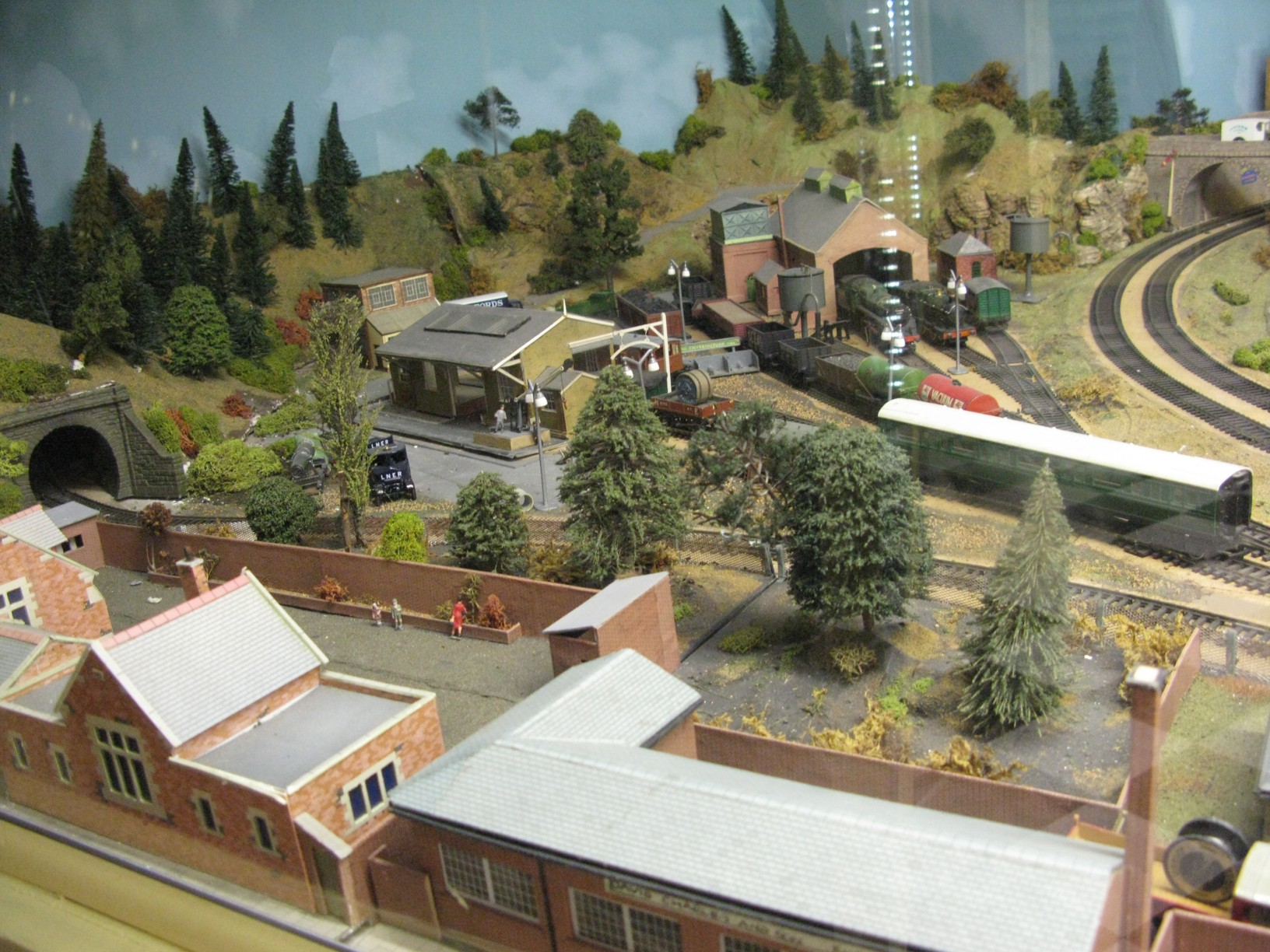 A small corner of the Museum's 00-gauge layout