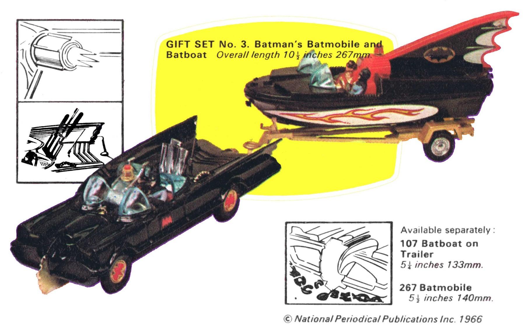 Batmobile Toy Model Batmobile Corgi Toys 267