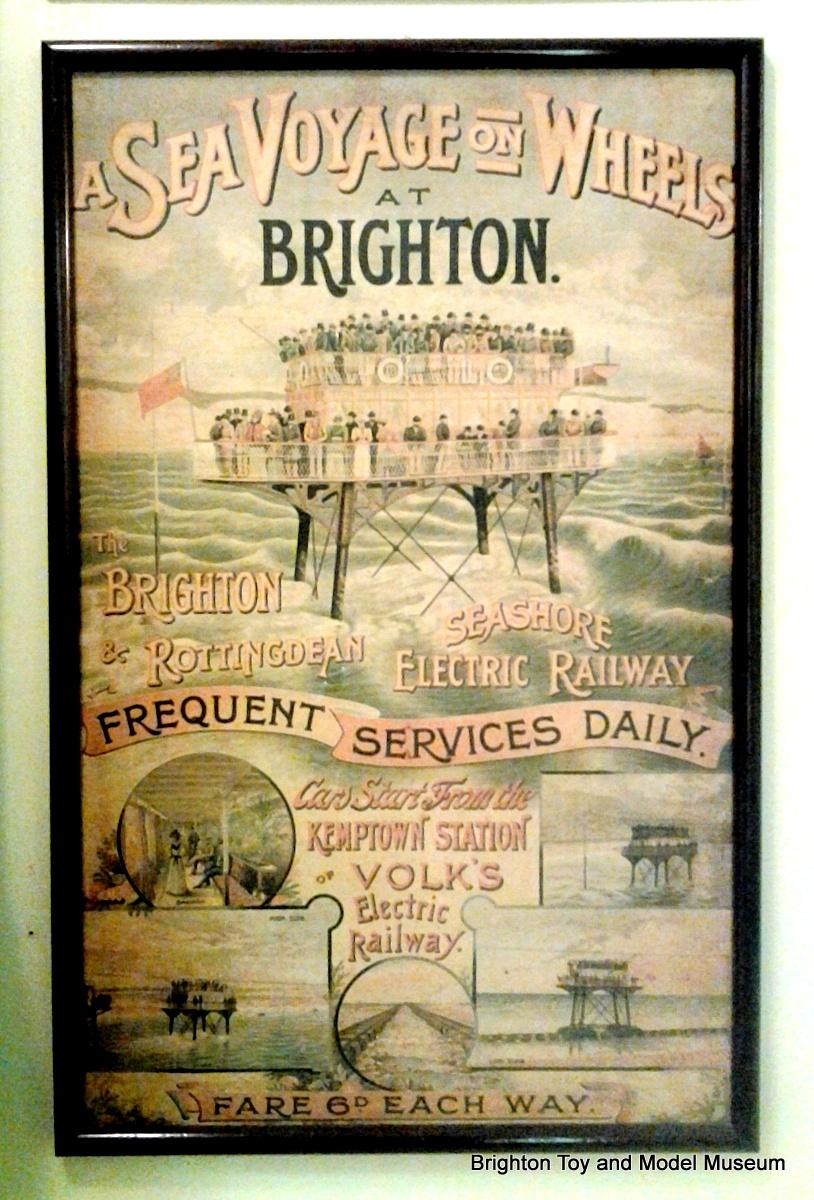 Daddy Long Legs, electric submarine railway, 1897, Brighton