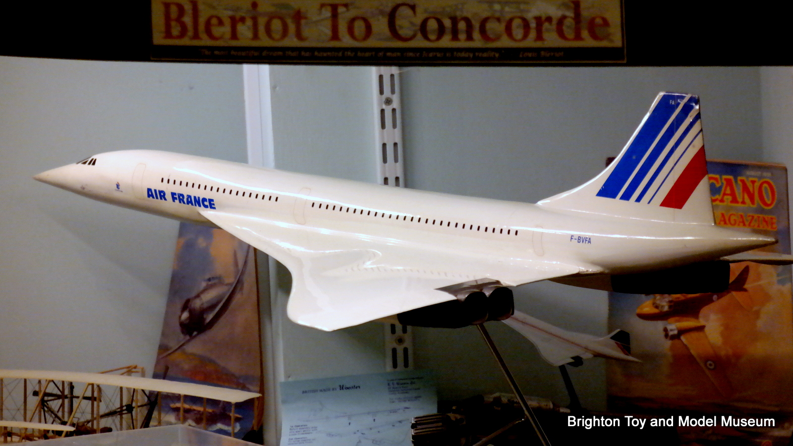 concorde air france large shop window model the brighton toy and model index. Black Bedroom Furniture Sets. Home Design Ideas