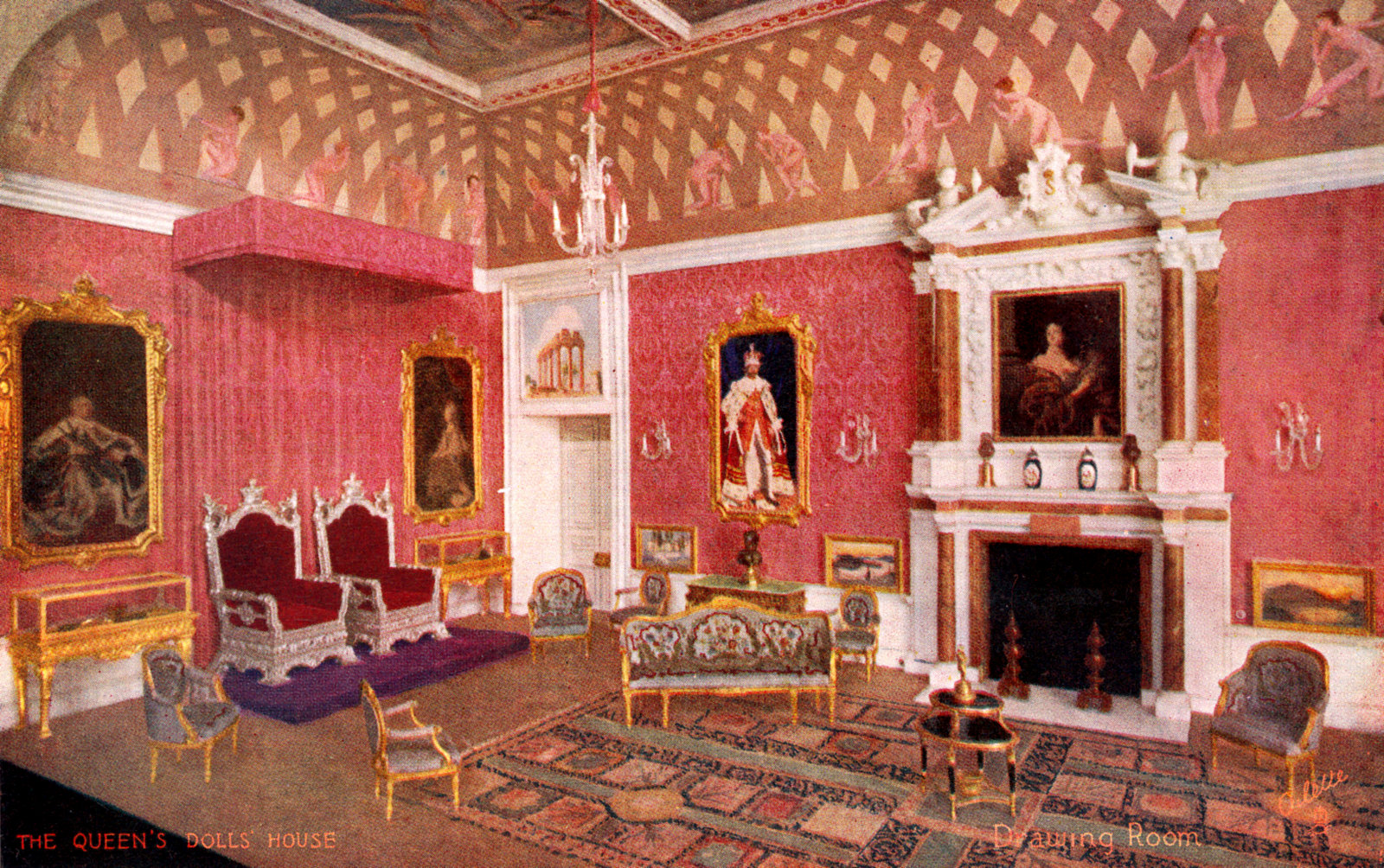 Drawing Room Or Grand Saloon The Queens Dolls House Postcards