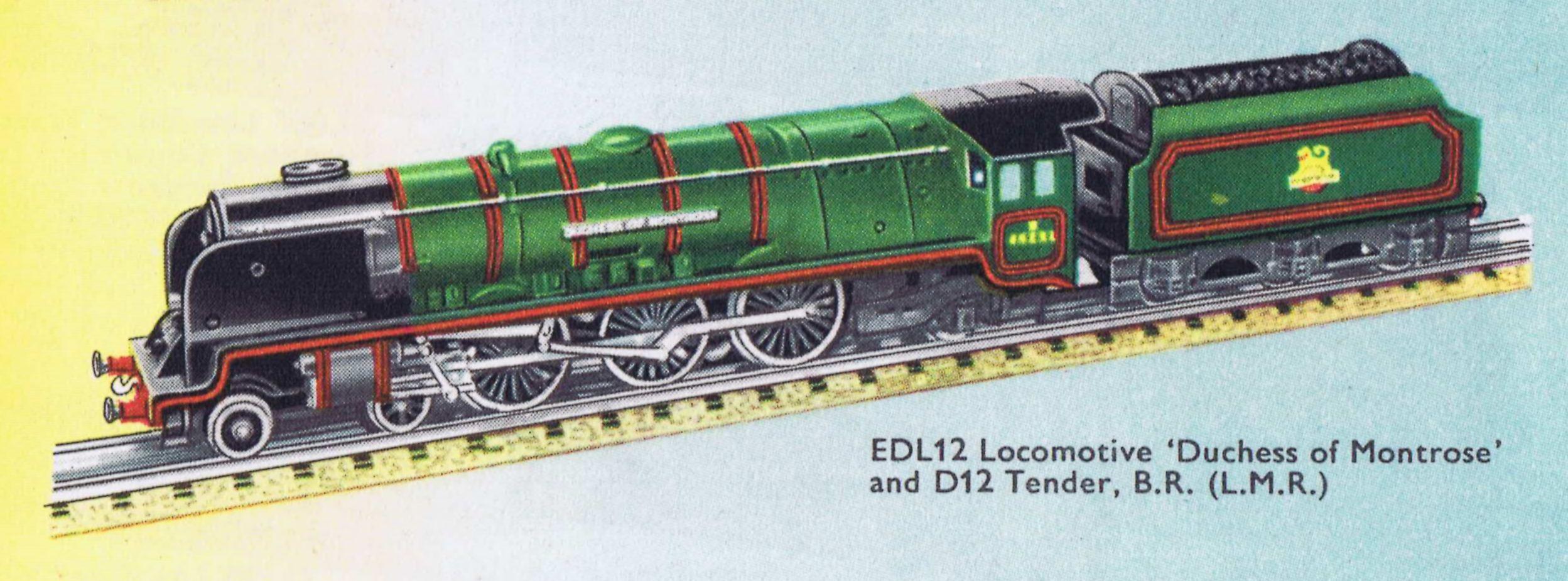 Hornby train set duchess of montrose locomotive