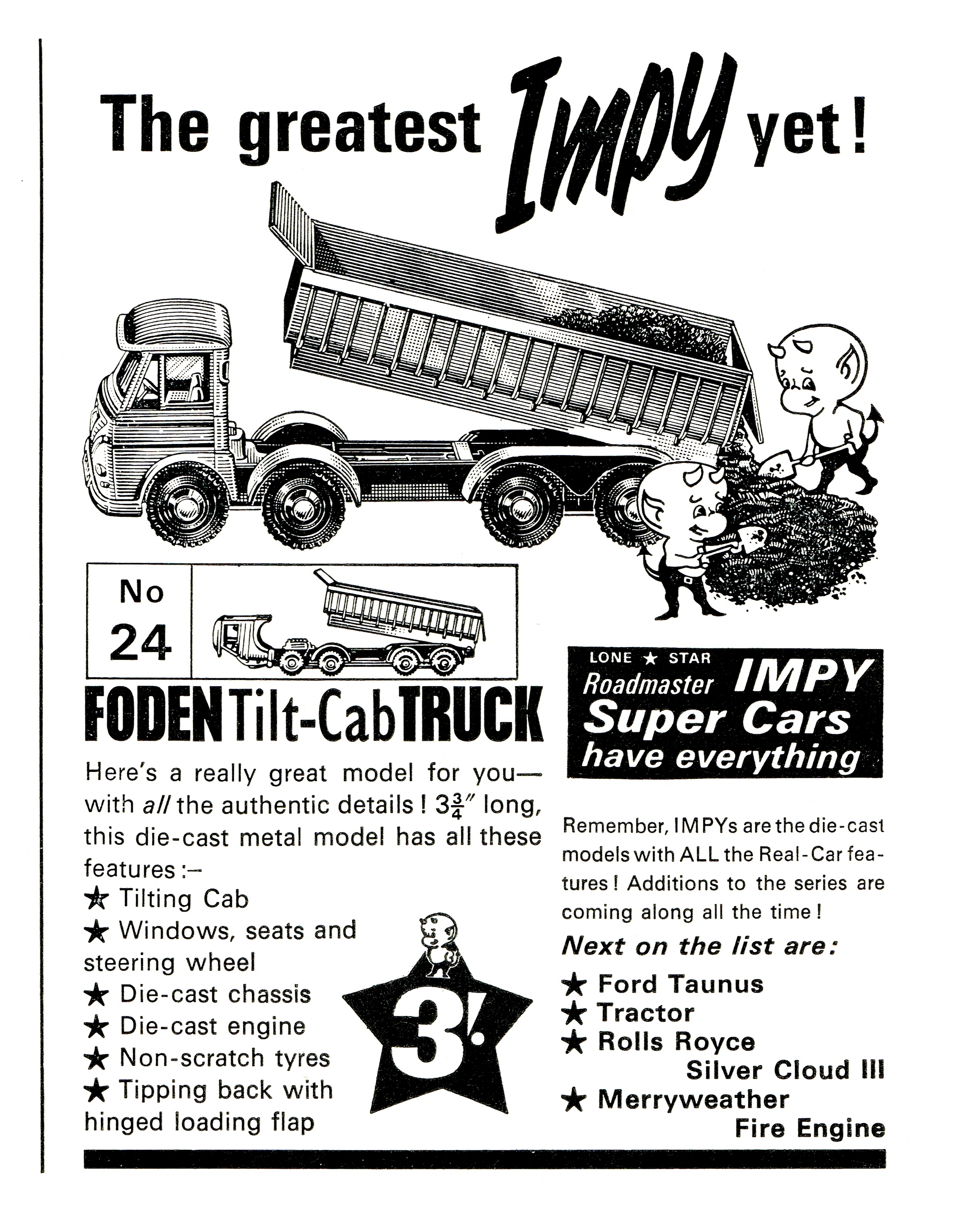 Impy Toys / Lone Star Roadmaster Impy Super Cars (1960s-)