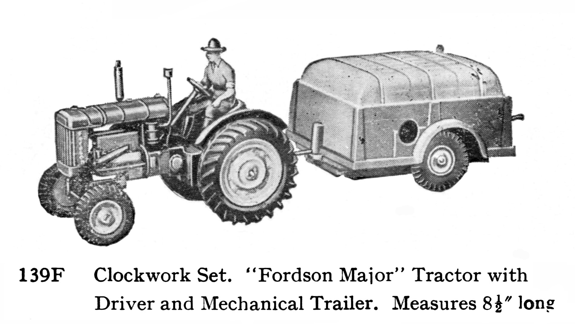 Fordson Major E27N Tractor Britains 128F The Brighton Toy and