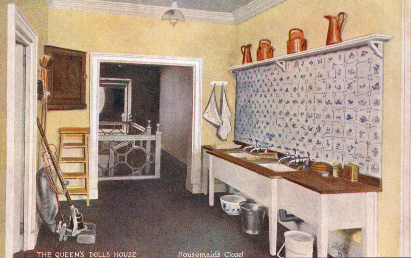Housemaids Closet The Queens Dolls House Postcards Raphael Tuck