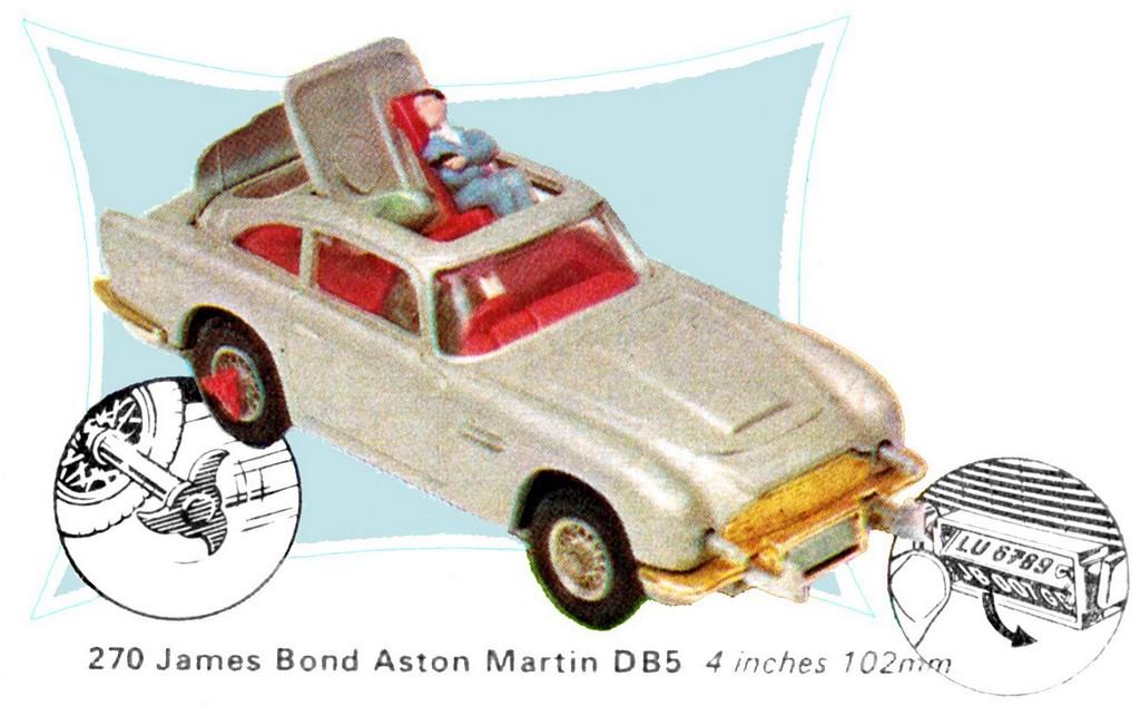James Bond Aston Martin DB5, gold, 2015 reissue (Corgi Toys CC04203G ...