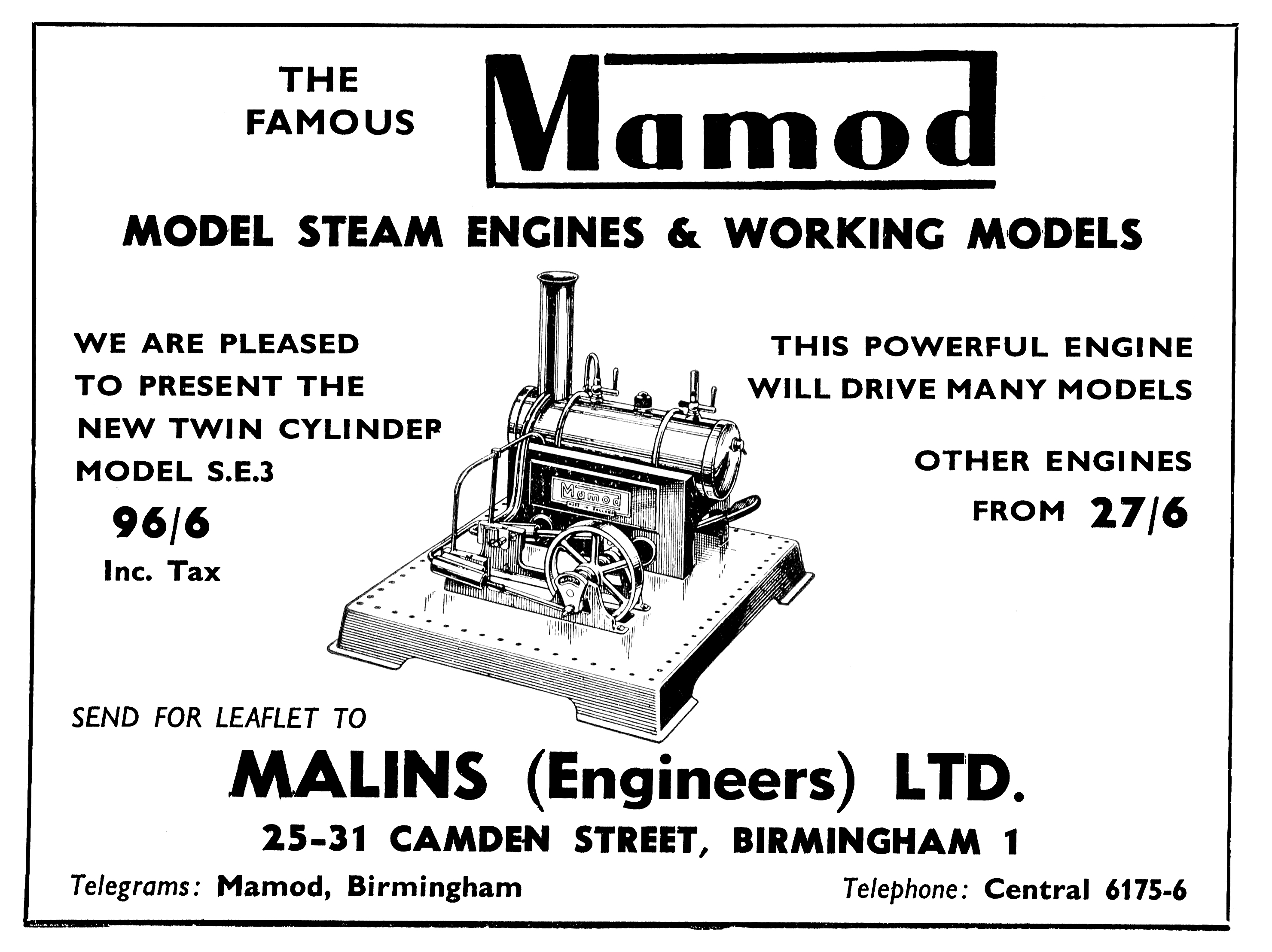 Mamod   U0026quot Malins Models U0026quot    Live Steam Models And Stationary