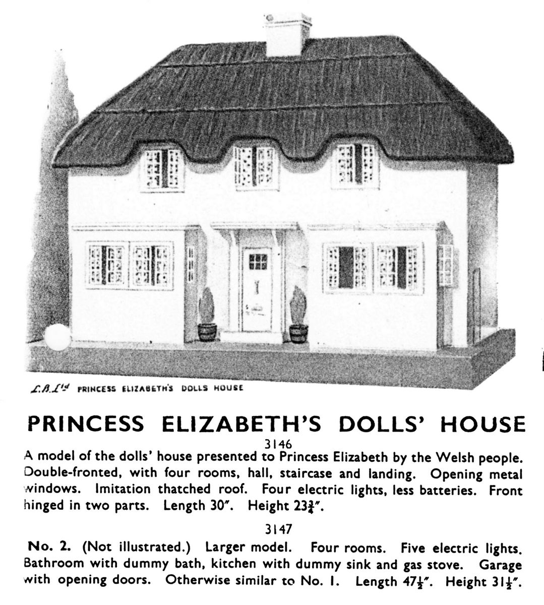 Princess Elizabeth 39 S Dolls House Tri Ang 3146 The