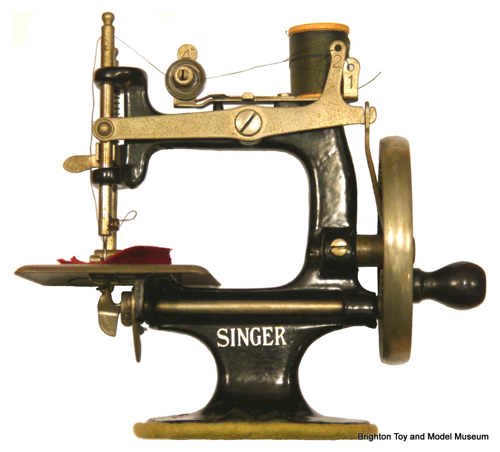 Singer Model 20 Sewing Machine The Brighton Toy And Index Threading Diagram Left Profile