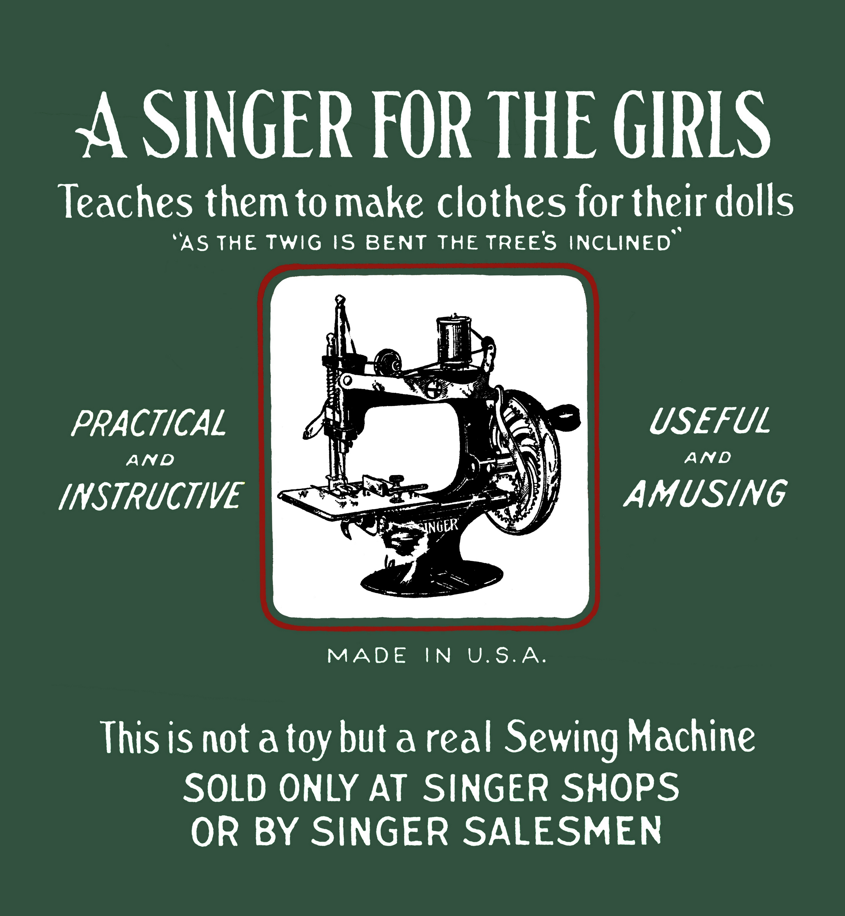 Singer Model 20 Sewing Machine The Brighton Toy And Index Parts Diagram Threading A For Girls Teaches Them To Make Clothes Their