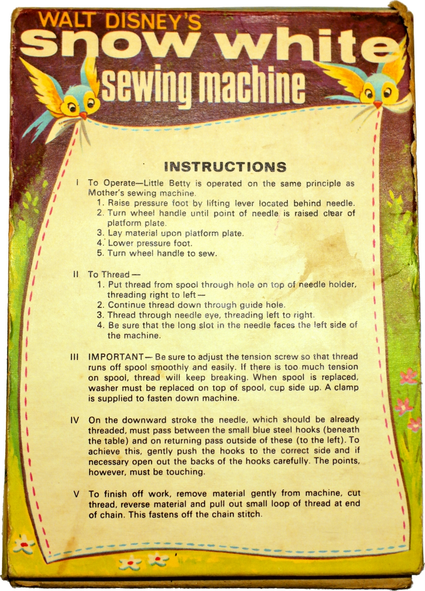 little betty sewing machine instructions