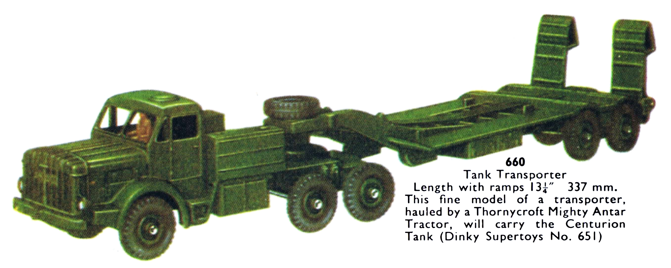 Tank Transporter Dinky Toys 660 The Brighton Toy and Model Index