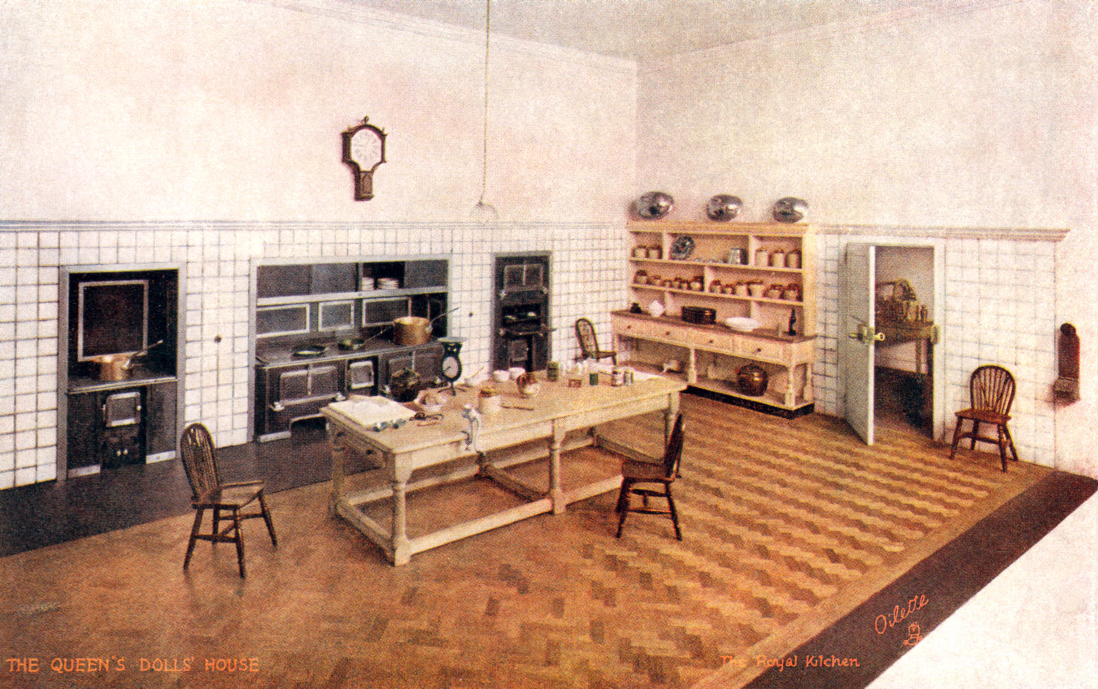 The Royal Kitchen The Queens Dolls House Postcards Raphael Tuck