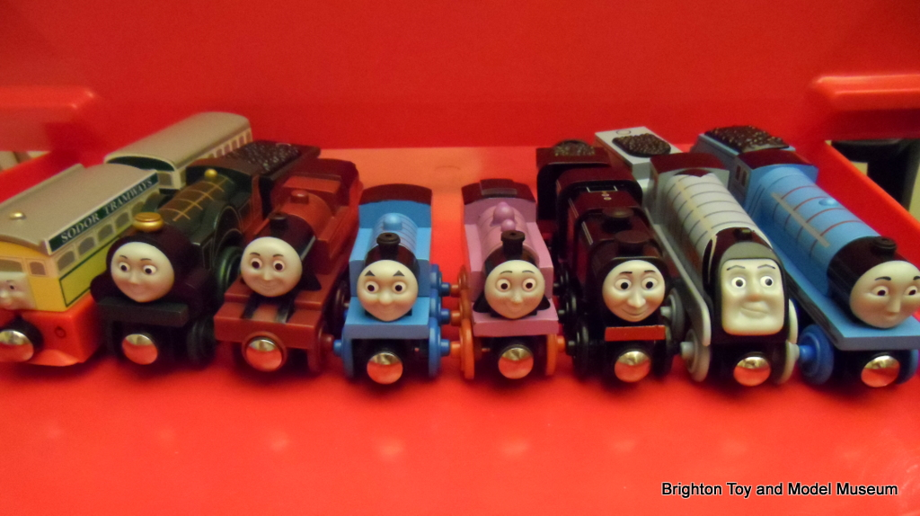 thomas and friends wooden railway tomy the brighton toy and