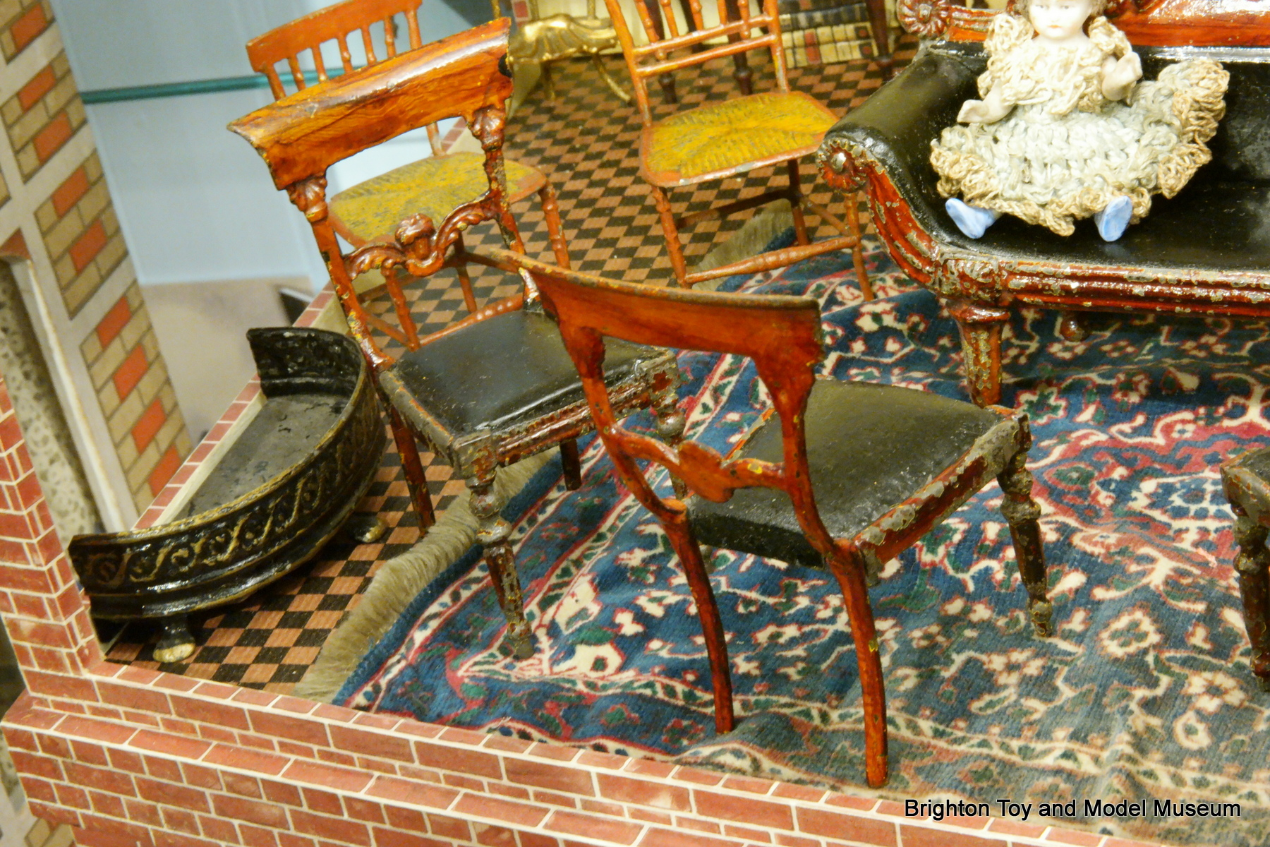 Widebacked Chairs Tinplate Dollhouse Furniture Evans And - Cartwright furniture