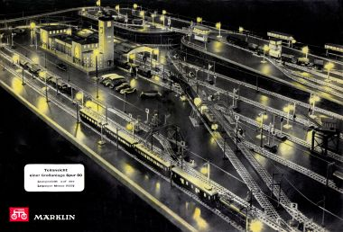 1939: Model railway layout exhibited at the Leipziger Messe, from the 1939 catalogue