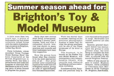 1991 article in Collectors Gazette, on the expected opening of the new museum, scheduled for May 1991