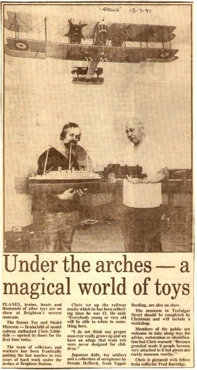 The model, visible in a local newspaper piece about the museum, in 1991