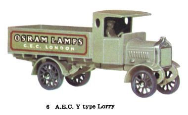 Matchbox Y6 AEC Y Type Lorry
