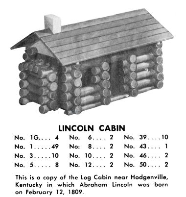 """This is a copy of the Log Cabin near Hodgenville, Kentucky in which Abraham Lincoln was born on February 12, 1809"""