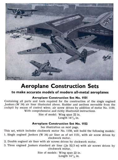 1936: Aeroplane Construction Sets