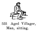 Aged Villager, Man, sitting, Britains Farm 555 (BritCat 1940).jpg
