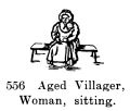 Aged Villager, Woman, sitting, Britains Farm 556 (BritCat 1940).jpg