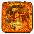 Alice in Wonderland, tea-party design lid (Mazawattee Tea tin).jpg