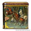 Alice though the Looking-Glass tin (1892), panel 2, Battle between the Red and White Knights.jpg