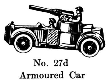 Armoured Car 27d, Britains 1940 catalogue image