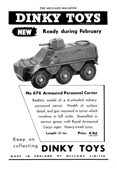 "1955: ""Launch"" full-page advert, February 1955"