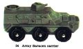 Army Saracen Carrier, Matchbox No54 (MBCat 1959).jpg