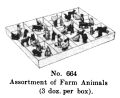 Assortment of Farm Animals, Britains Farm 664 (BritCat 1940).jpg