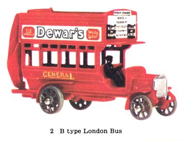 Matchbox Y2 B Type London Bus