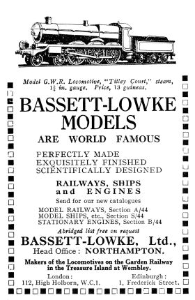 1925 B-L advert featuring the Titley Court steam-powered model