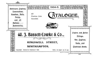 Bassett-Lowke catalogue, titlesheet, 1904