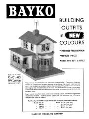 "1960: ""Bayko Building Outfits in New Colours"", full-page advert in Meccano Magazine"
