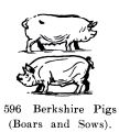Berkshire Pigs (Boars and Sows), Britains Farm 596 (BritCat 1940).jpg
