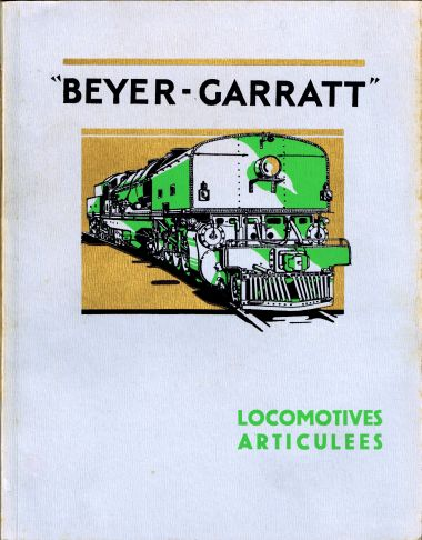 French Beyer-Garratt locomotives catalogue cover