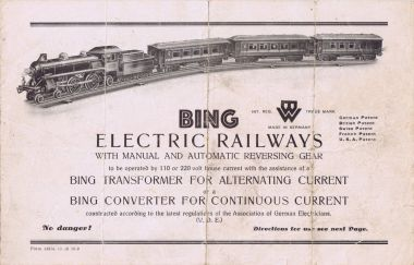 "Bing Electric Railways. ""No Danger!"""