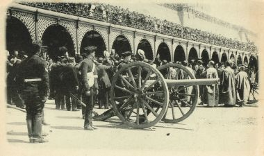 1902: Celebrations and military salute for the end of the Boer War
