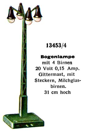 1931: Street Lamp with four bulbs, Märklin 13453