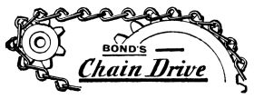Bond's Chain Drive, catalogue art