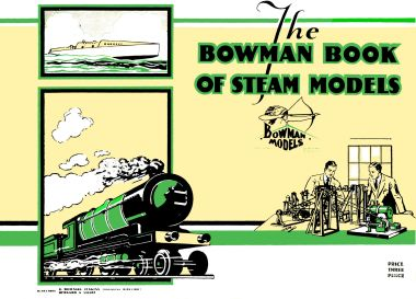 ~1931 Bowman Book of Steam Models, cover