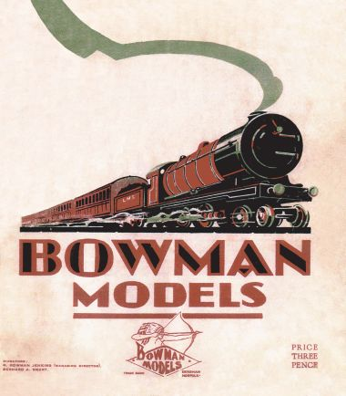 Bowman models catalogue cover, undated