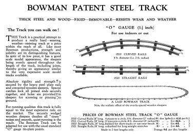 ~1931: Bowman Patent Steel Track