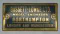 Brass plate for Exhibition Models, Bassett-Lowke Ltd, Model Engineers, Northampton.jpg