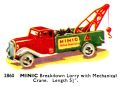 Breakdown Lorry with Mechanical Crane, Minic 2860 (TriangCat 1937).jpg