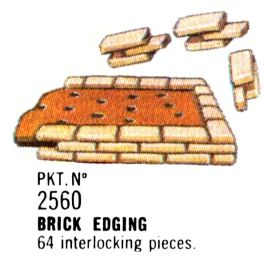 1996 catalogue image: Brick edging