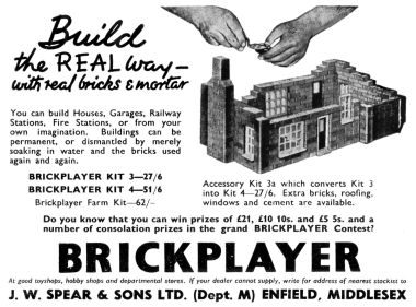 1958 Brickplayer advert, Meccano Magazine
